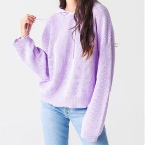 525 America Light Purple Shaker Dropped Shoulder Hoodie Sweater Size Large NWT